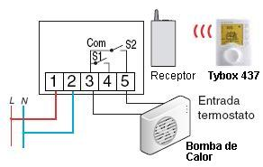 Bomba de calor con cableado de termostato de tira de calor
